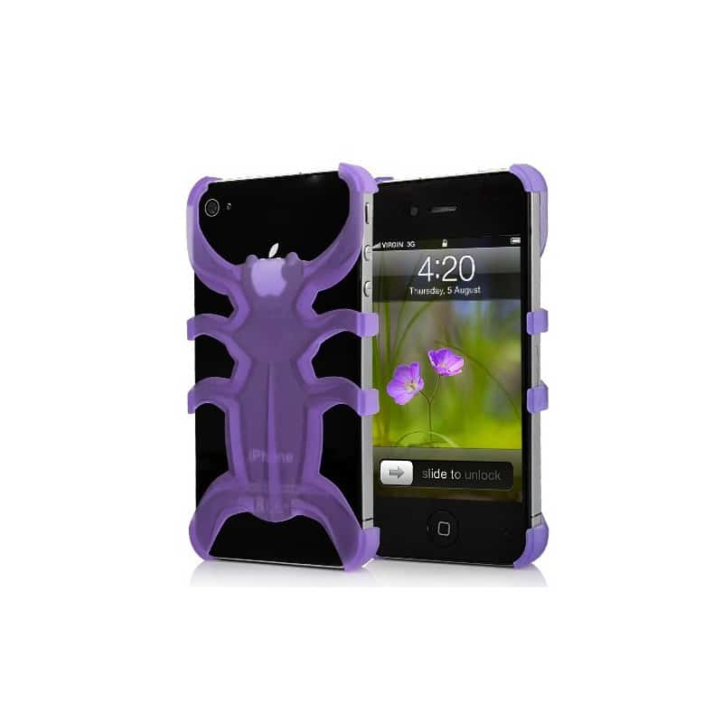 coque araignee mauve pour iphone 4 et 4s. Black Bedroom Furniture Sets. Home Design Ideas