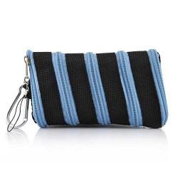 Etui chaussette ZIPPER bleu pour telephones et lecteurs mp3