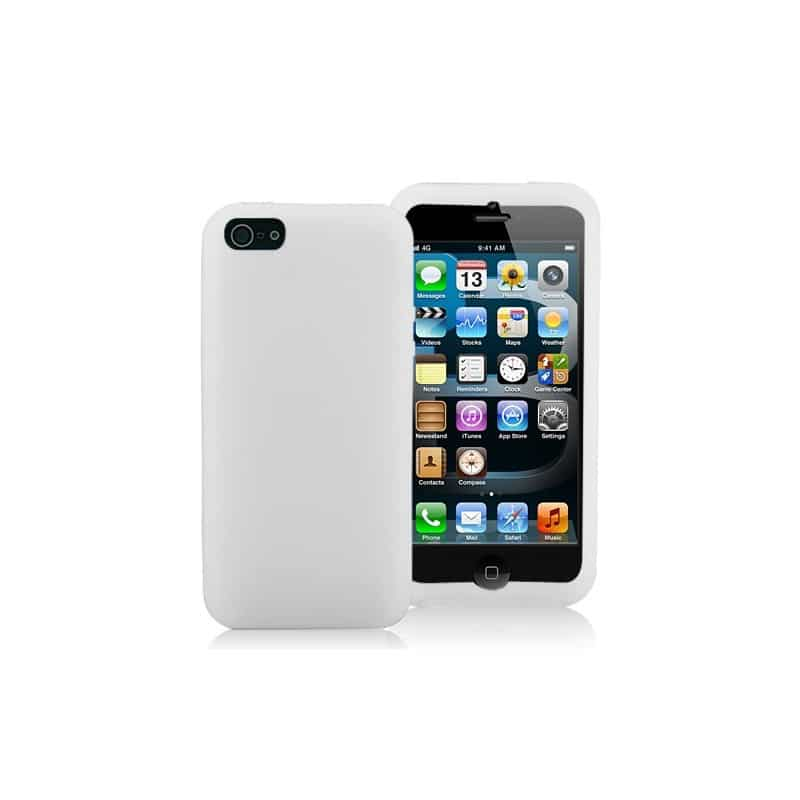 coque silicone blanche pour iphone 5 5s et se. Black Bedroom Furniture Sets. Home Design Ideas