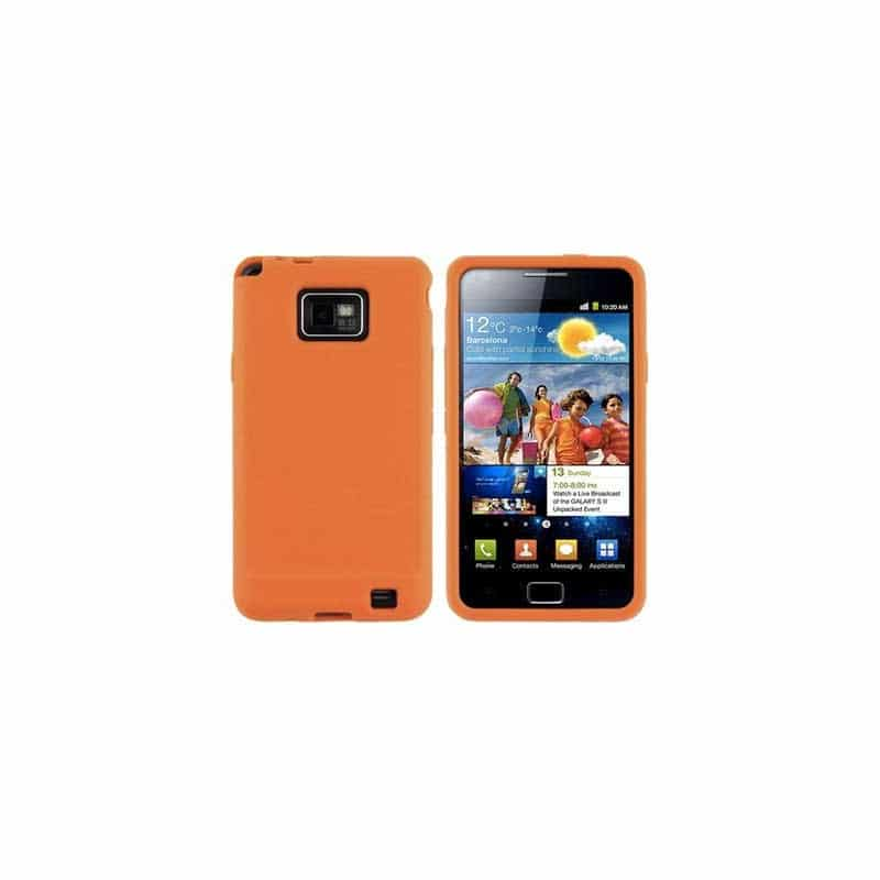 coque crystal orange pour samsung galaxy s2. Black Bedroom Furniture Sets. Home Design Ideas
