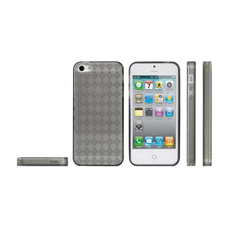 coque damier grise pour iphone 5 5s et se. Black Bedroom Furniture Sets. Home Design Ideas