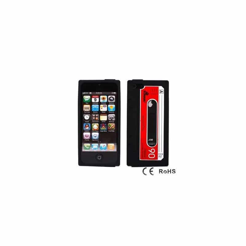 coque cassette noire pour iphone 5 5s et se. Black Bedroom Furniture Sets. Home Design Ideas