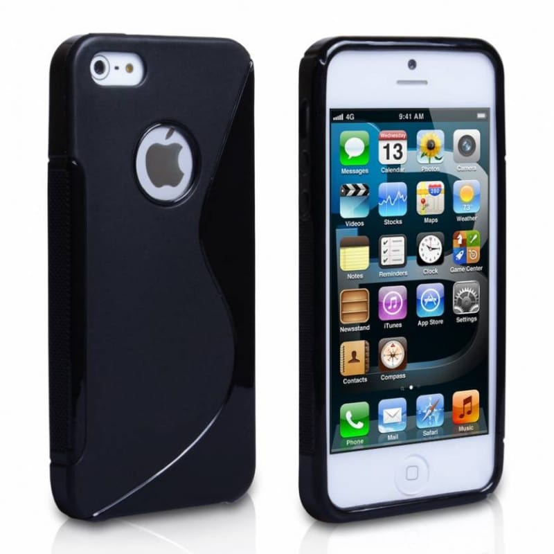 coque s line noire pour iphone 5 5s et se. Black Bedroom Furniture Sets. Home Design Ideas
