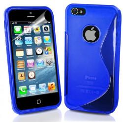 Coque S-LINE bleue pour iPhone 5 5S et SE