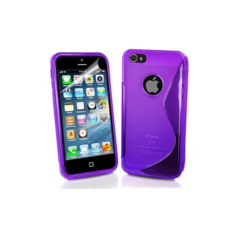 coque s line mauve pour iphone 5 5s et se. Black Bedroom Furniture Sets. Home Design Ideas