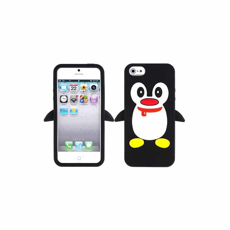 coque pingouin noire pour iphone 5 5s et se. Black Bedroom Furniture Sets. Home Design Ideas