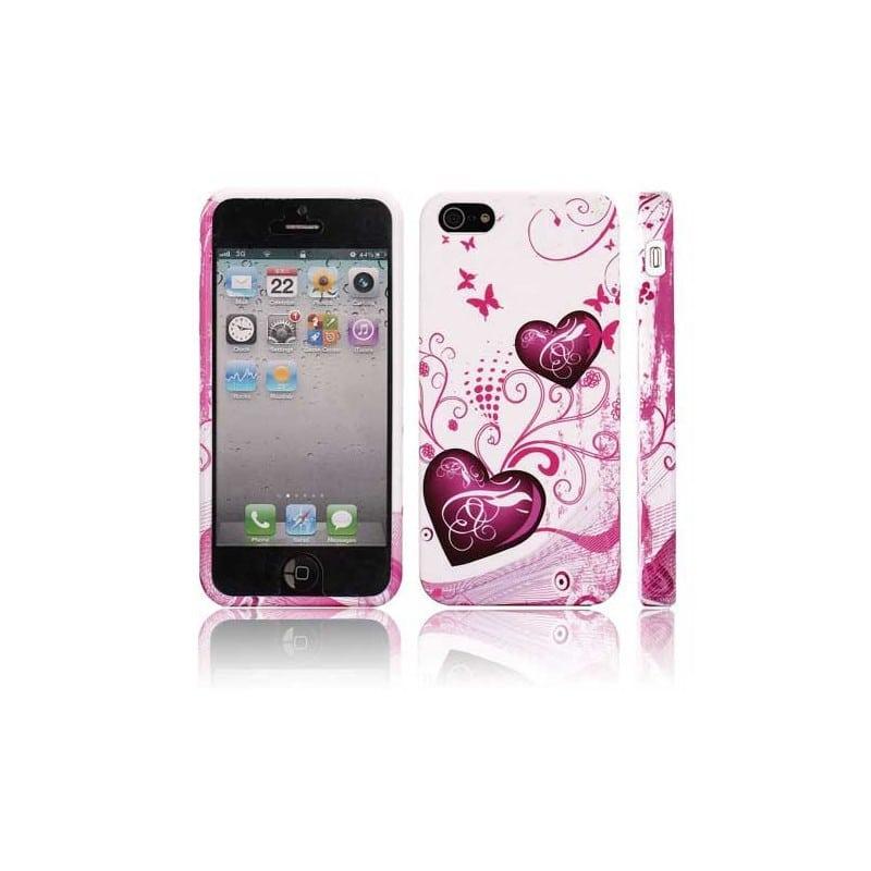 Coque COEUR pour iPhone 5 5S et SE