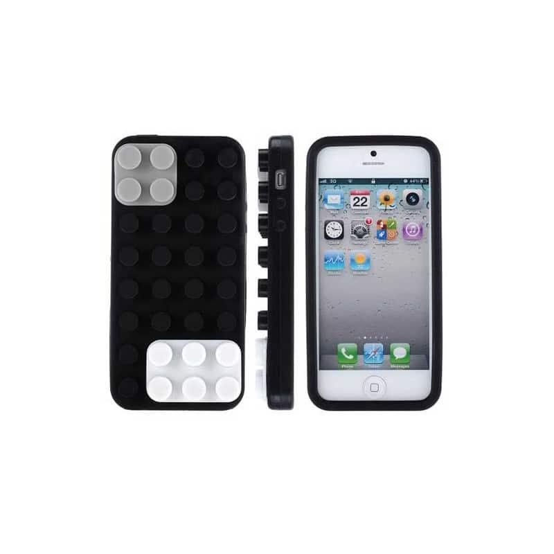 coque lego noire pour iphone 5 5s et se. Black Bedroom Furniture Sets. Home Design Ideas