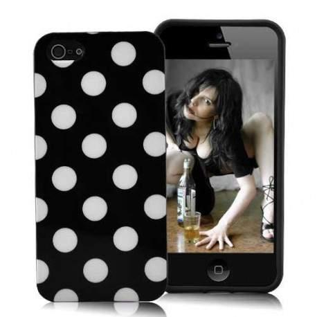Coque POIS blanche pour iPhone 5
