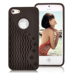 Coque WAVE noire pour iPhone 5 5S et SE