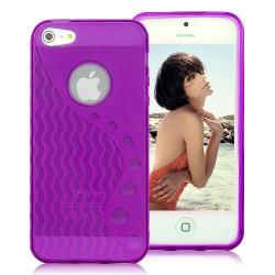 Coque WAVE mauve pour iPhone 5 5S et SE