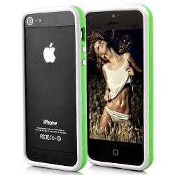 BUMPER LUXE vert et blanc pour iPhone 5 5S et SE