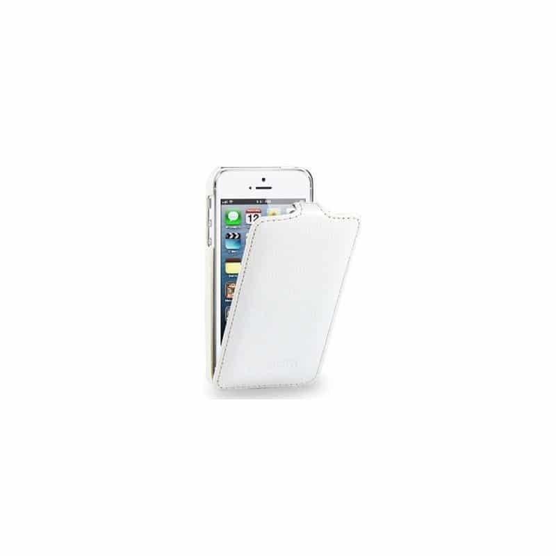 etui rabattable2 blanc pour iphone 5 et 5s. Black Bedroom Furniture Sets. Home Design Ideas
