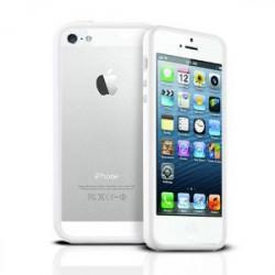 BUMPER LUXE blanc pour iPhone 5 5S et SE