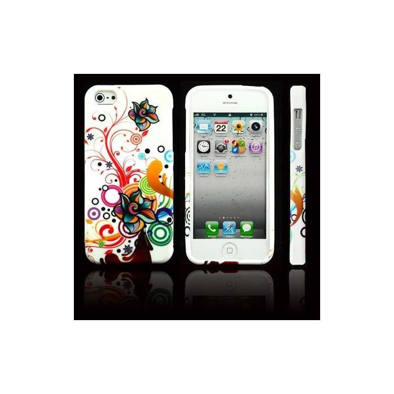 coque fleurs 3 pour iphone 5 5s et se. Black Bedroom Furniture Sets. Home Design Ideas