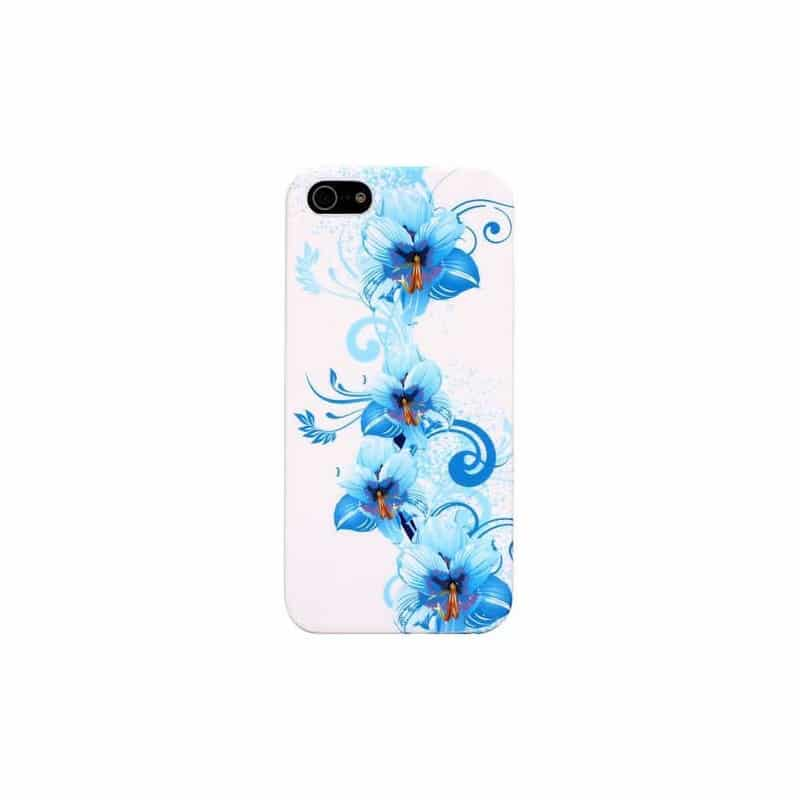 coque fleurs 4 pour iphone 5 5s et se. Black Bedroom Furniture Sets. Home Design Ideas