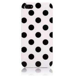 Coque POIS noire et blache pour iPhone 5 5S et SE
