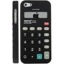 Coque CALCUL noire pour iPhone 5 5S et SE