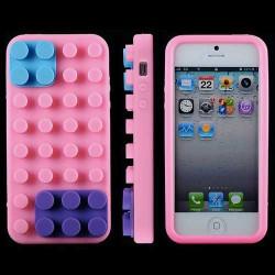 Coque LEGO rose pour iPhone 5 5S et SE