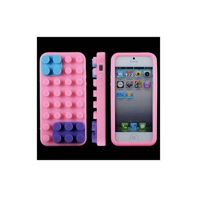 coque lego rose pour iphone 5 5s et se. Black Bedroom Furniture Sets. Home Design Ideas