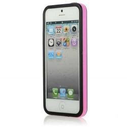 BUMPER LUXE rose et noir pour iPhone 5 5S et SE