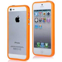 BUMPER LUXE orange pour iPhone 5 5S et SE