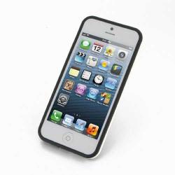 BUMPER LUXE noir et blanc pour iPhone 5 5S et SE