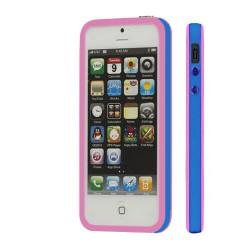 BUMPER LUXE rose et bleu pour iPhone 5 5S et SE