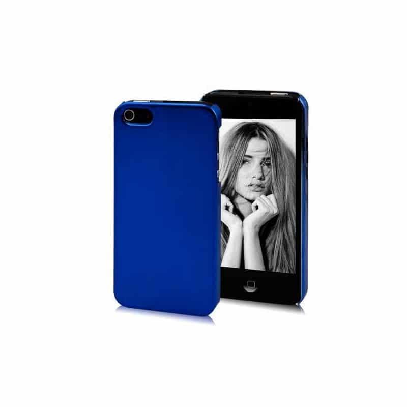 coque miroir bleue pour iphone 5 5s et se. Black Bedroom Furniture Sets. Home Design Ideas