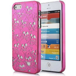 Coque SKULL HEAD rose pour iPhone 5, 5S SE