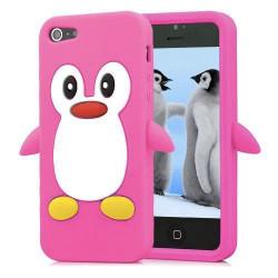 Coque PINGOUIN rose pour iPhone 5 5S et SE