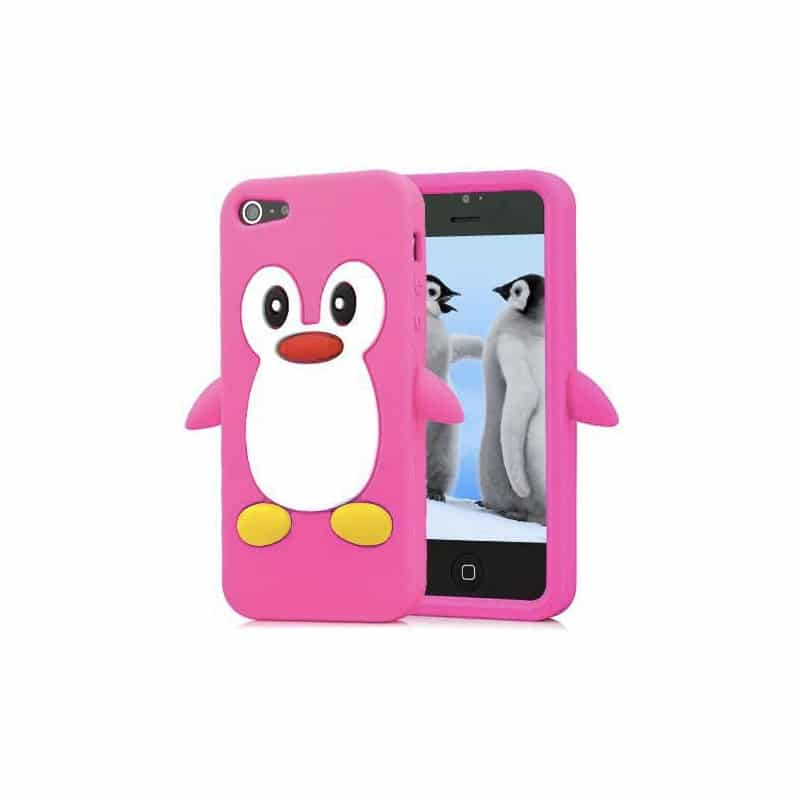 coque pingouin rose pour iphone 5 5s et se. Black Bedroom Furniture Sets. Home Design Ideas