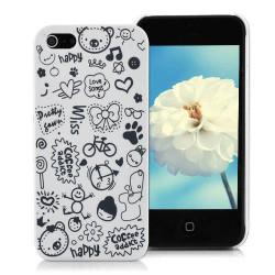 Coque HAPPY blanche pour iPhone 5 5S SE