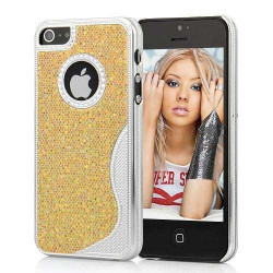 Coque BLING OR pour iPhone 5 5S SE