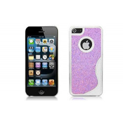 Coque BLING ROSE pour iPhone 5 SE 5S