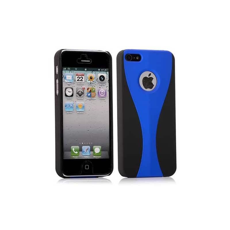 coque 2 colors bleue et noire pour iphone 5 5s se. Black Bedroom Furniture Sets. Home Design Ideas