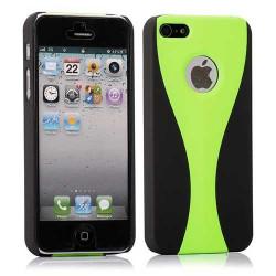 Coque 2 COLORS verte et noire pour iPhone 5 5S SE