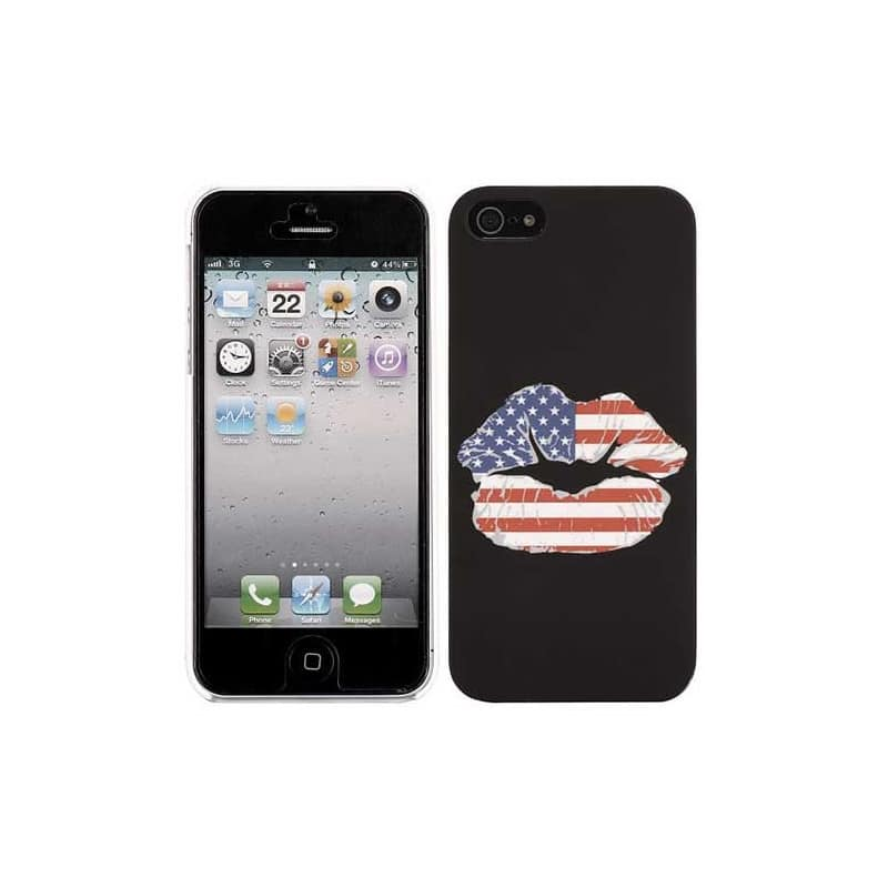 coque kiss usa pour iphone 5 5s se. Black Bedroom Furniture Sets. Home Design Ideas