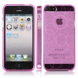 Coque CIRCLE rose pour iPhone 5 5S et SE