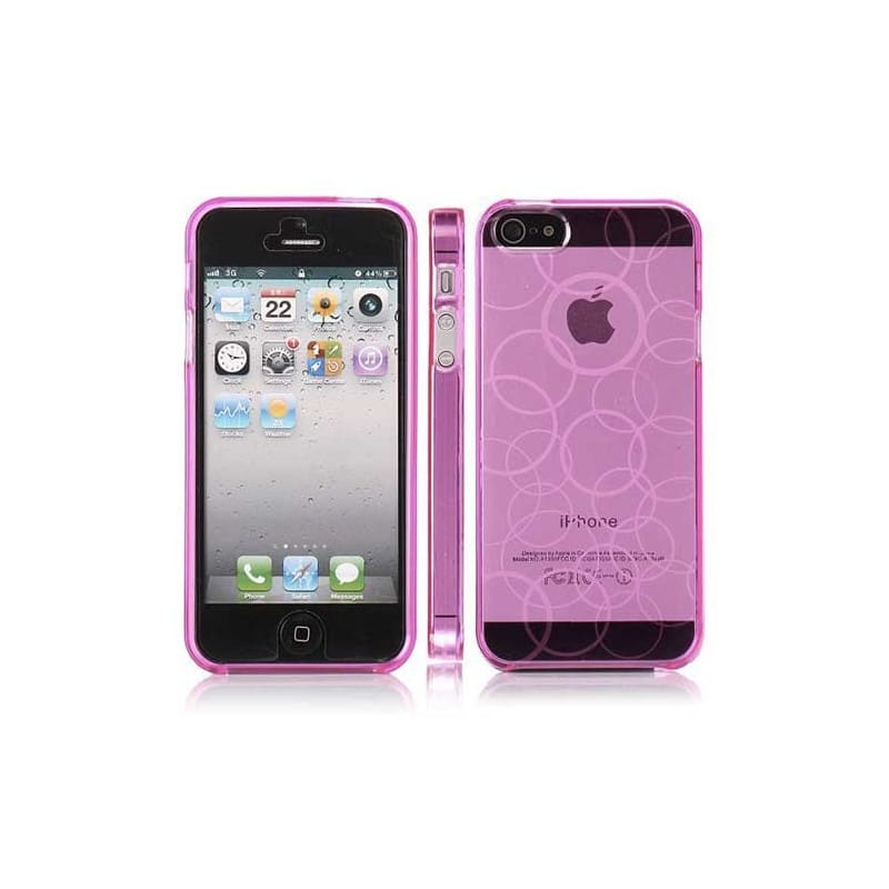 coque circle rose pour iphone 5 5s et se. Black Bedroom Furniture Sets. Home Design Ideas