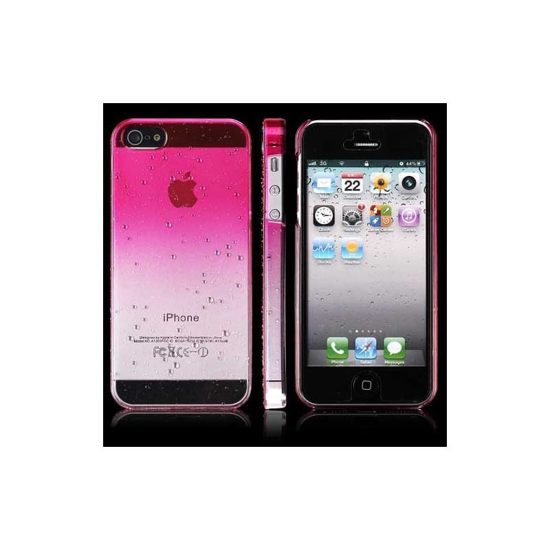Coque CRYSTAL WATER Rose Pour IPhone 5, 5S SE 5C