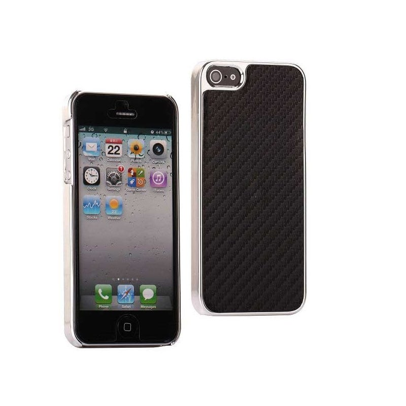 coque carbone noire pour iphone 5 5s se. Black Bedroom Furniture Sets. Home Design Ideas
