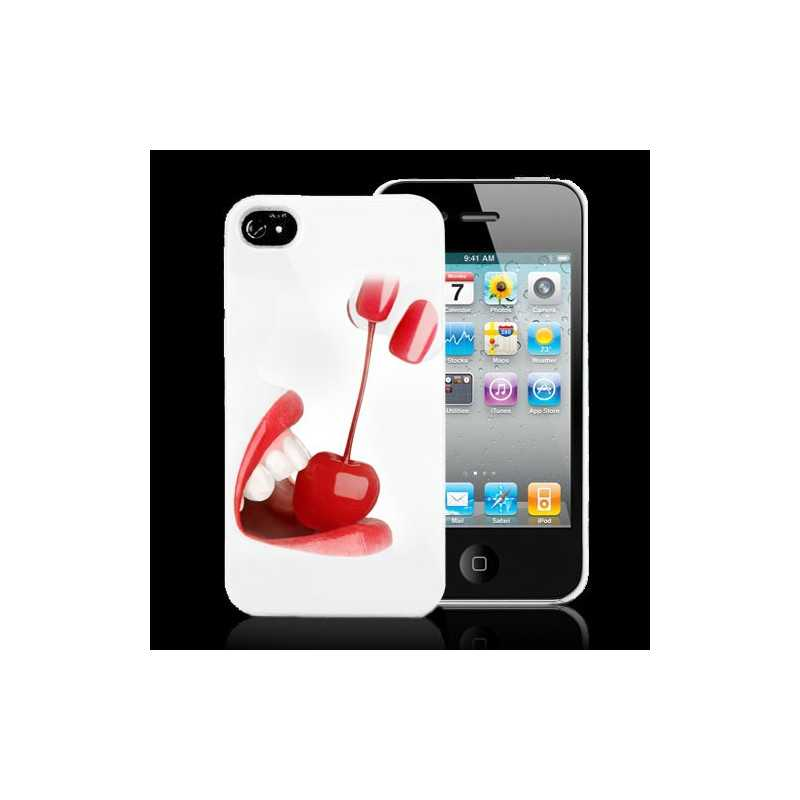coque cerises pour iphone 4 et 4s. Black Bedroom Furniture Sets. Home Design Ideas
