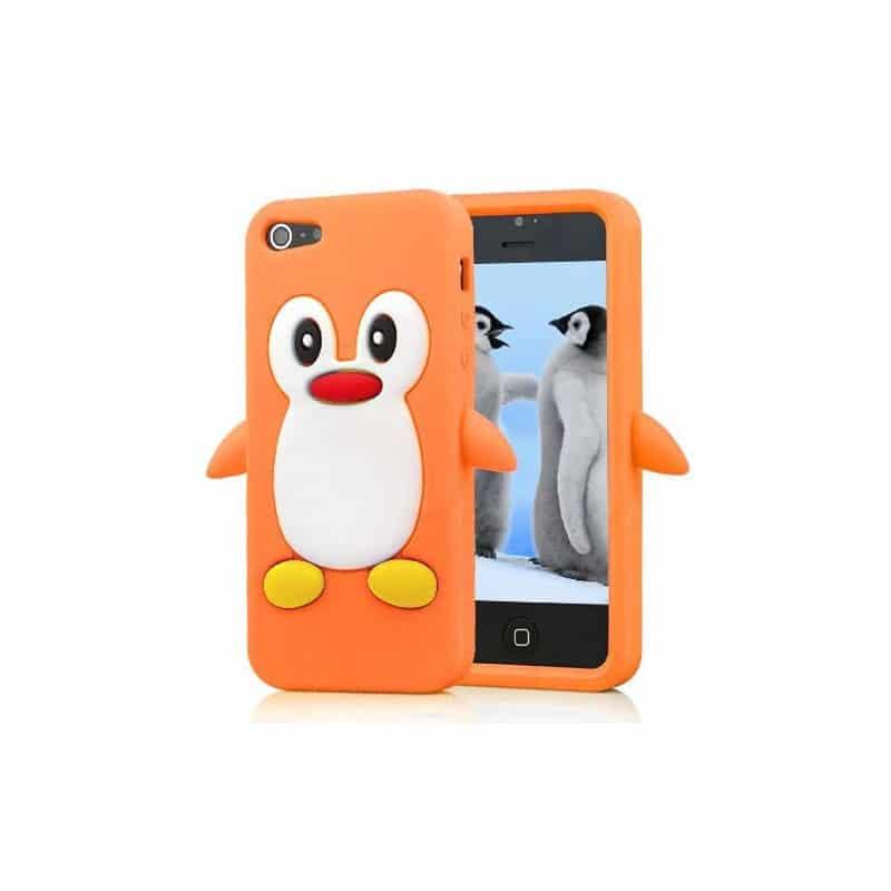 coque pingouin orange pour iphone 5 5s et se. Black Bedroom Furniture Sets. Home Design Ideas