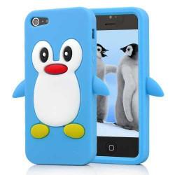 Coque PINGOUIN bleue pour iPhone 5 5S et SE