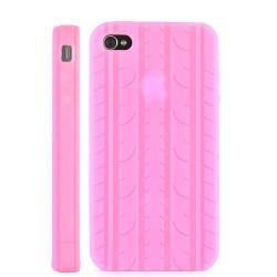 Coque PNEU de couleur rose pour Iphone 4