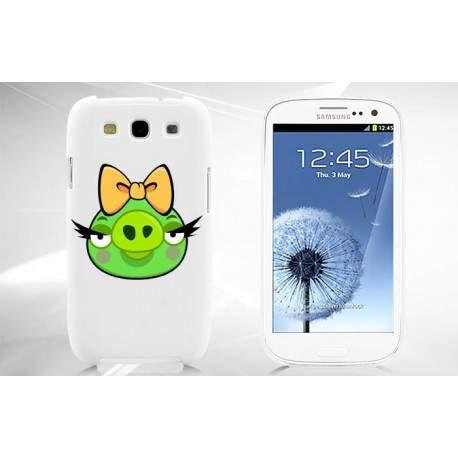Coque ANGRY BIRDS verte pour Samsung S3 i9300
