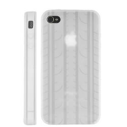 Coque PNEU de couleur blanche pour Iphone 4