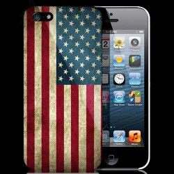 Coque USA 3 imprimée en france pour iPhone 5 5S SE
