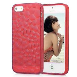 Coque CUBE rouge pour iPhone 5 5S et SE